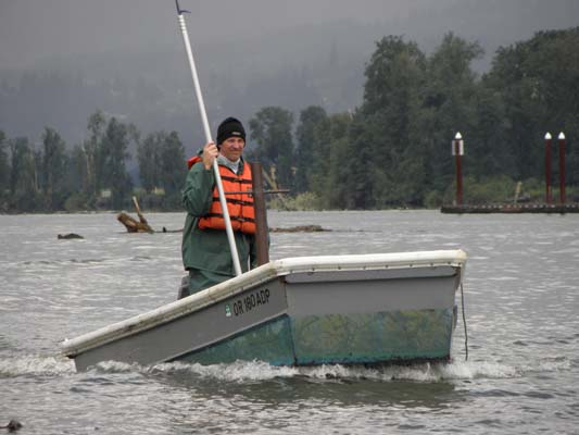 Brad Log Wrangling - St. Helens Marina staff.