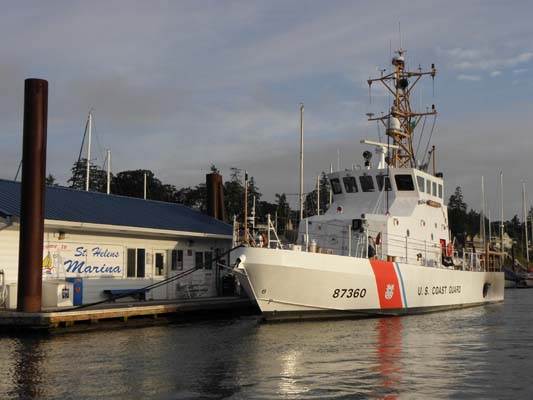 Coast Guard Cutter at St. Helens Marina