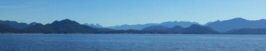 View of the Sunshine Coast, approaching Nanaimo