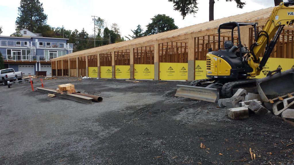 storage units under construction